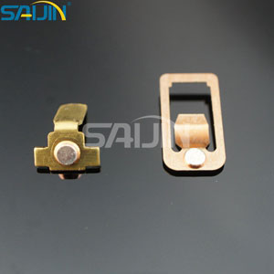 Copper Stamping Parts for Switches with Silver Contacts
