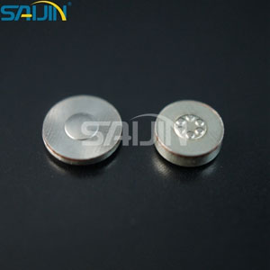 Bimetal plum blossom contact buttons